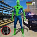 Super Amazing Green Spider Rope Hero Miami Gang icon