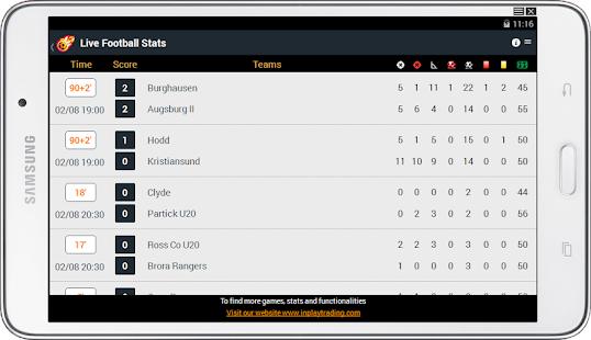 Live Football Stats screenshot