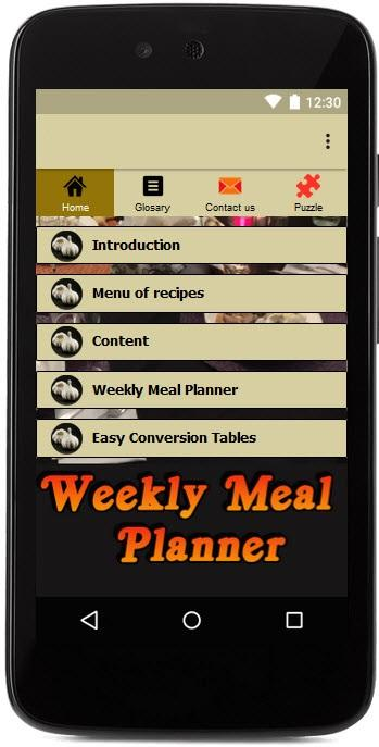 Weekly Meal Planner & Recipes- screenshot