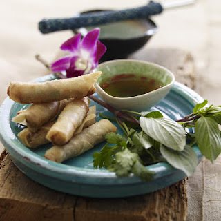 Vietnamese Pork Spring Rolls with Chili Dip