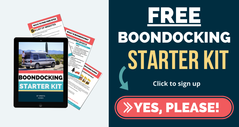 Click here to subscribe to the boondocking starter kit