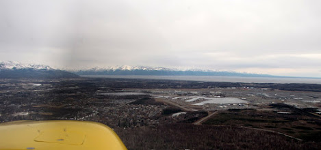 Photo: Ted Stevens International Airport, Anchorage, is co-located with Lake Hood Seaplane base and the Lake Hood gravel airstrip, where we landed.