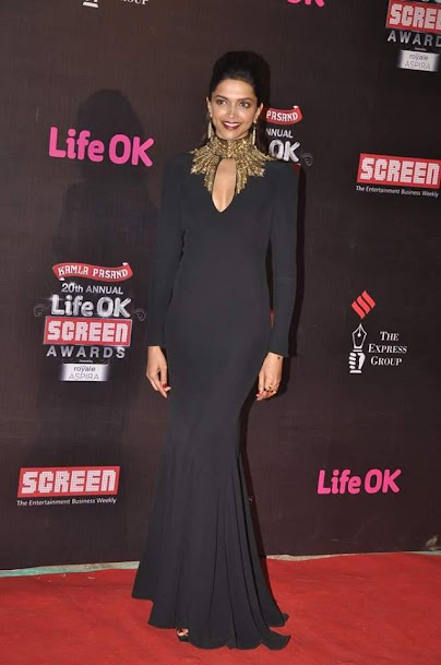 Deepika Padukone at Life OK Screen Awards 2013