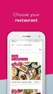 foodpanda - Local Food Delivery – Miniaturansicht des Screenshots