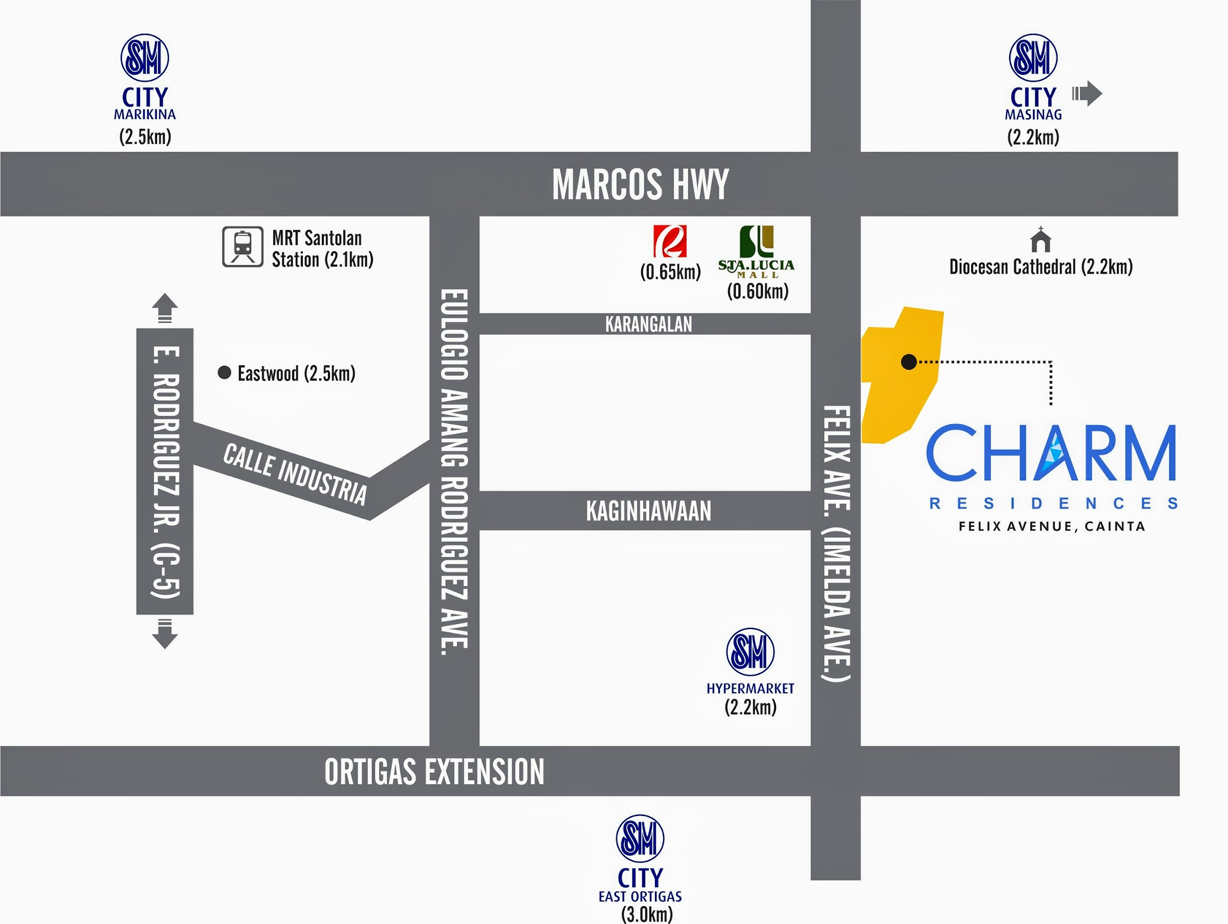 Charm Residences Cainta location map