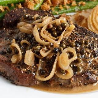 Steak Tenderloin in a Green Peppercorn Sauce