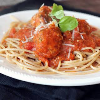 Turkey Meatballs with Spaghetti Sauce.