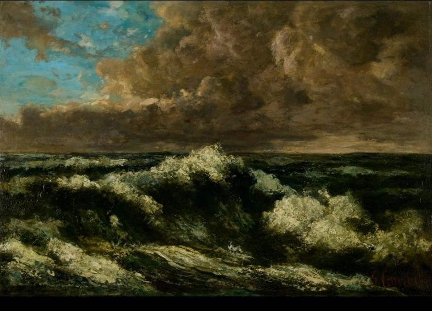 Gustave Courbet's Paysage de Mer.