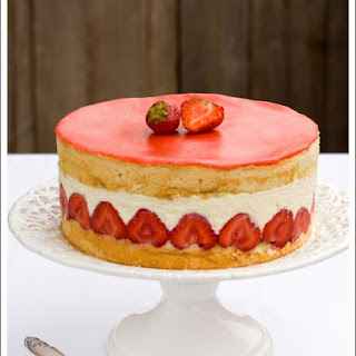 Fraisier - Strawberry Bavarian Cake
