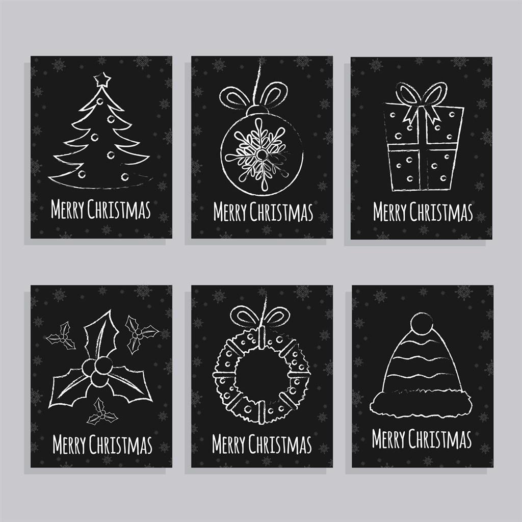 粉筆聖誕節賀卡