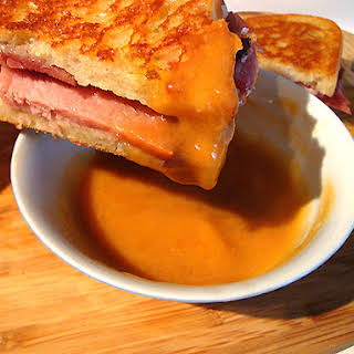 Ham and Manchego Cheese Panini with Dipping Sauce.