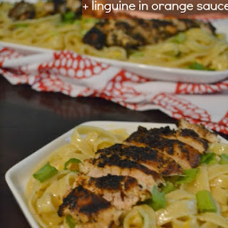 Orange is the New Blackened Chicken with Linguine in Orange Sauce.