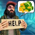Homeless Hobo Life: Tramp Survival Simulator Games icon