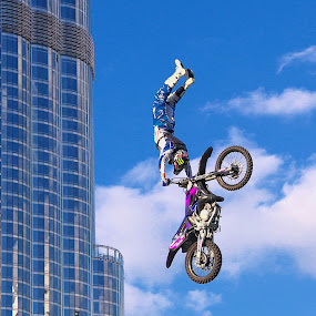 Moto-X by O J - Transportation Motorcycles ( motor cross, dubai, uae, burj khalifa, stunt )