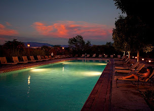 Photo: Outside Pool at Night