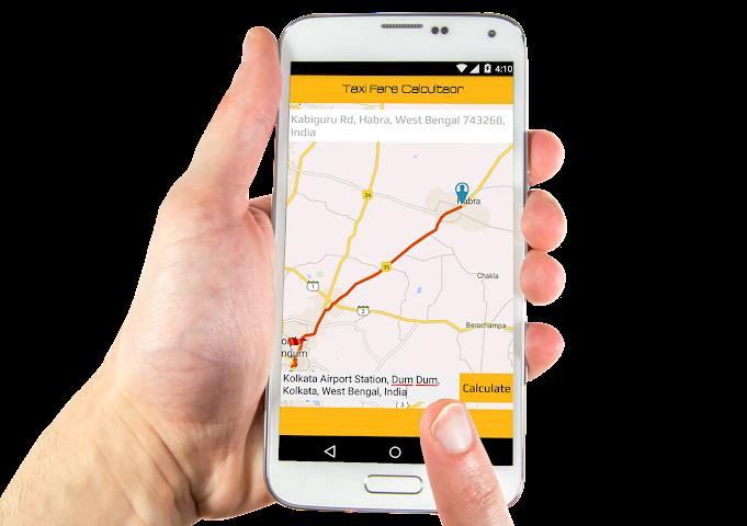 android Taxi Fare Calculator Screenshot 1