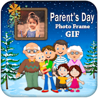 Parents Day GIF Photo Frame - Happy Parents Day