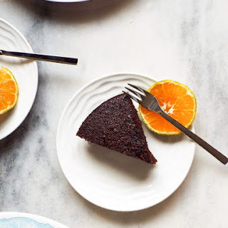 Chocolate Orange Almond Cake with Olive Oil | Gluten and Dairy Free.