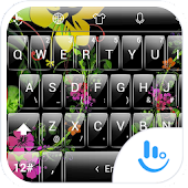 T Glass Flowers TouchPal Theme