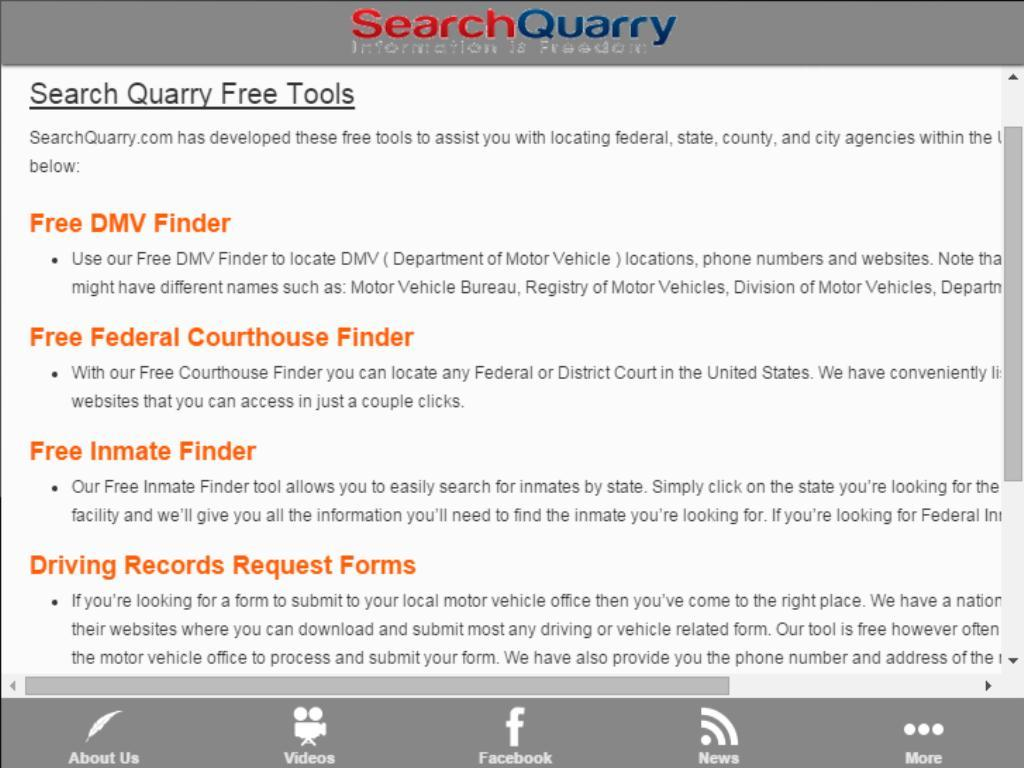 Search Quarry Tool Box- screenshot