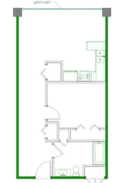 Rogers Floorplan Diagram 595-680 sq ft