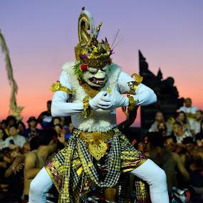 The Hanuman by Leonardus Cung - People Musicians & Entertainers ( bali, show, hinduism, entertainment, culture, hanuman )