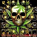 Gold Weed Skull Keyboard Theme icon