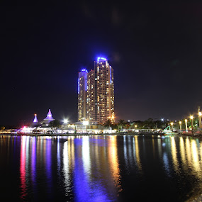 Pantai Ancol by Arie Wibowo - City,  Street & Park  Night