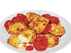 Ravioli With Roasted Tomato Sauce Recipe