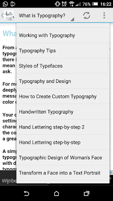 Typography Tutorials - screenshot