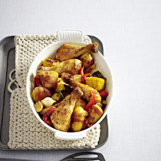 Spicy Chicken and Corn Bake