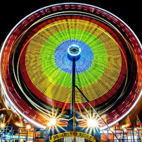 Ferris Wheel by Andrew Savasuk - City,  Street & Park  Amusement Parks ( rides, park, carnival, fun, fair, ferris wheel, circle, pwc79 )