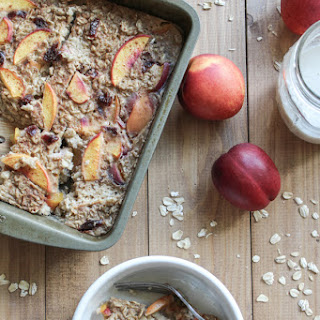 Nectarine Dried Cherry Baked Oatmeal