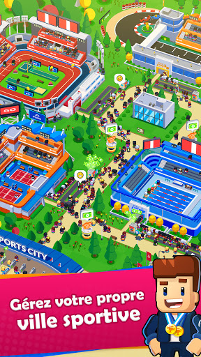 Sports City Tycoon Game - Créez un empire sportif APK MOD (Astuce) screenshots 1