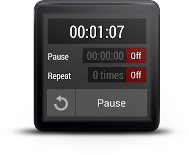 Interval Timer For Wear OS (Android Wear) Screenshot