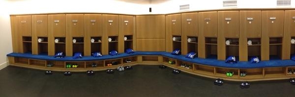Photo: Inside the dressing room...
