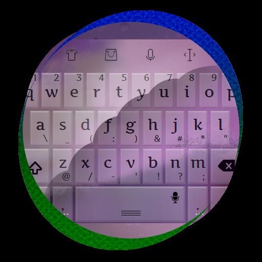 个人化の紫夕暮れ TouchPal 皮膚Hifu LOGO-記事Game
