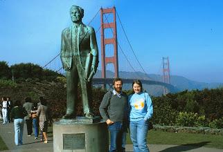 Photo: Turistit Golden Gatella, huomaa Mt Palomar -paita Pirkolla