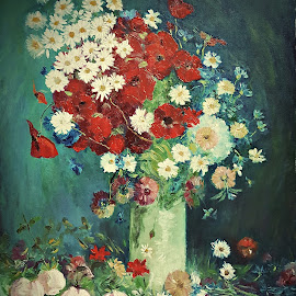 Still life with meadow flowers by Amas Art - Painting All Painting ( van gogh, still life, flowers, painting )