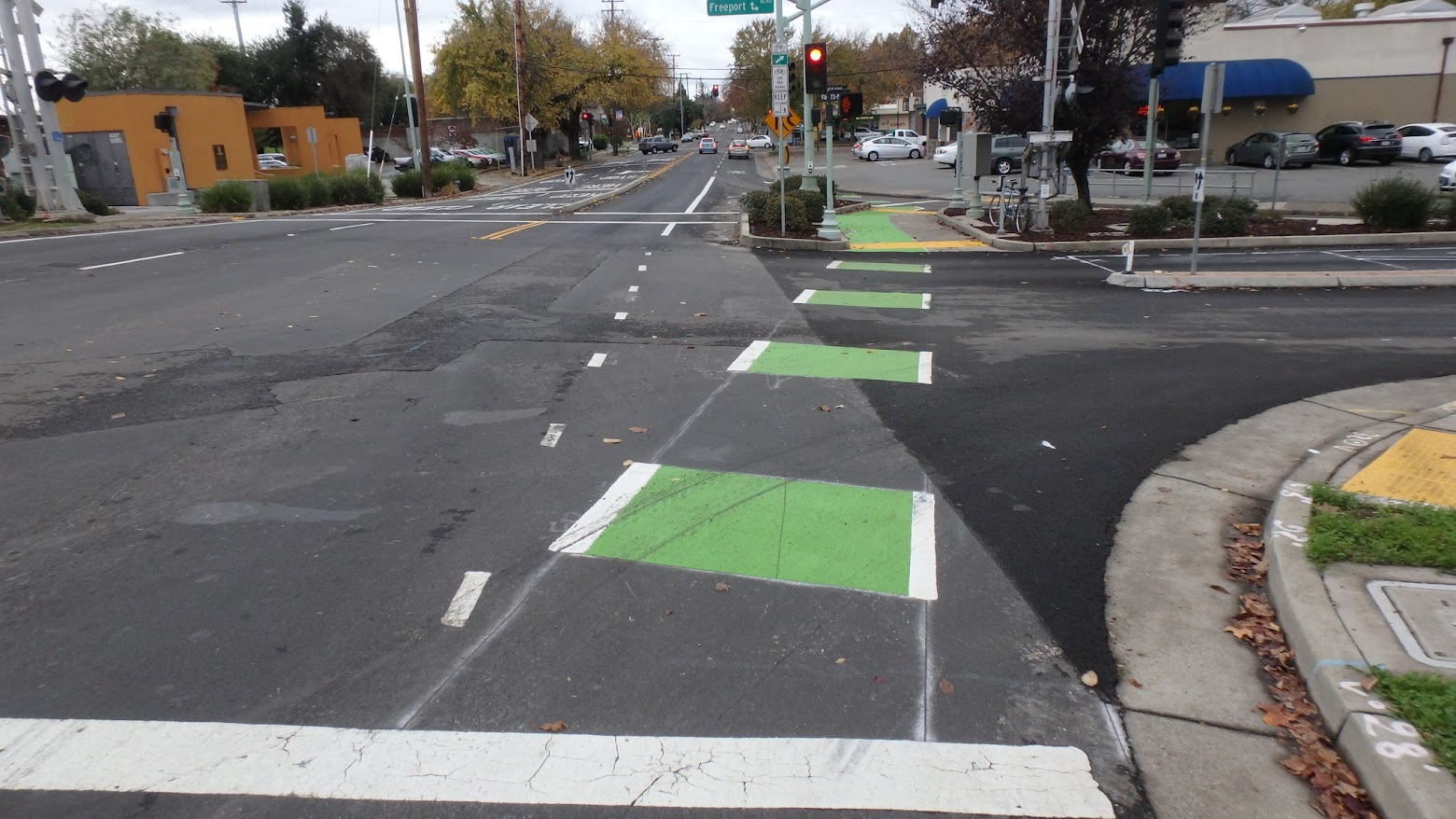 Wasted space for a bicycle lane