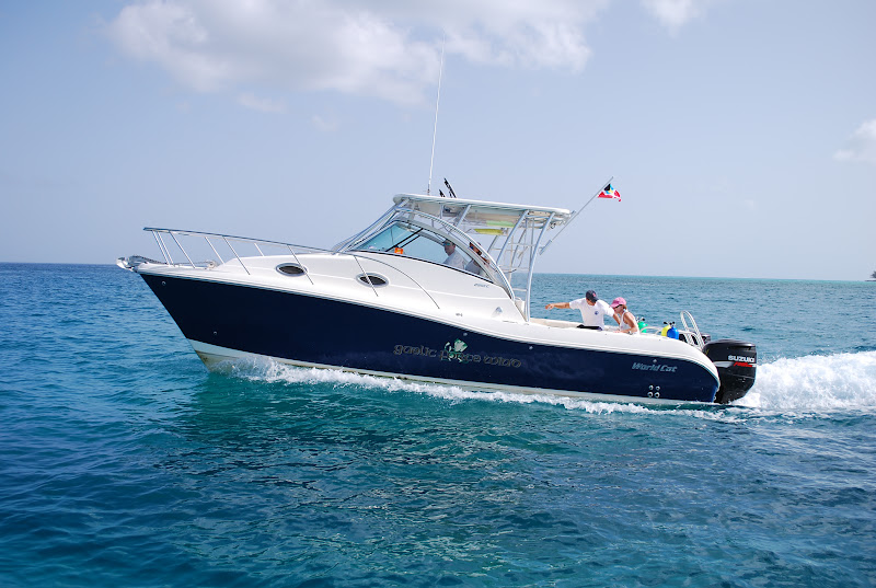 Photo: Running to a dive spot off South Bimini in the World Cat 290EC