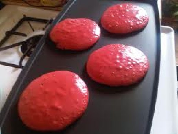 For each pancake, pour ¼ cup of batter on to the hot griddle. Cook...