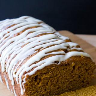 Pumpkin Bread with Cream Cheese Glaze