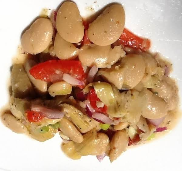 Marinated Gigante Bean & Grilled Artichoke Salad