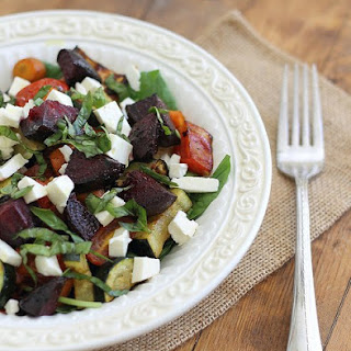 Simple Summer Roasted Vegetable Salad