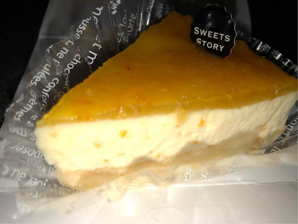 オレンジレアチーズケーキ