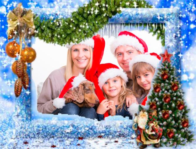 merry christmas photo frames screenshot