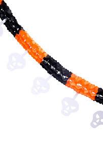 Girlang, svart/orange