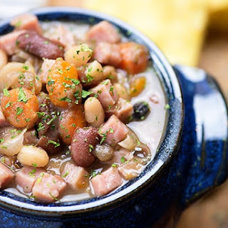 Instant Pot Ham and Bean Soup.