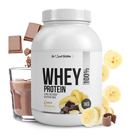 No.1 Sports Whey Protein 1kg - Choco Banana
